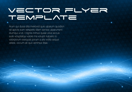 Abstract futuristic flyer template Vector