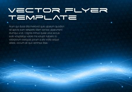 Abstrakte futuristische Flyer Vorlage