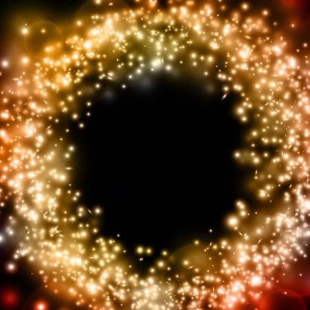Abstract vector luminous gold background Illustration