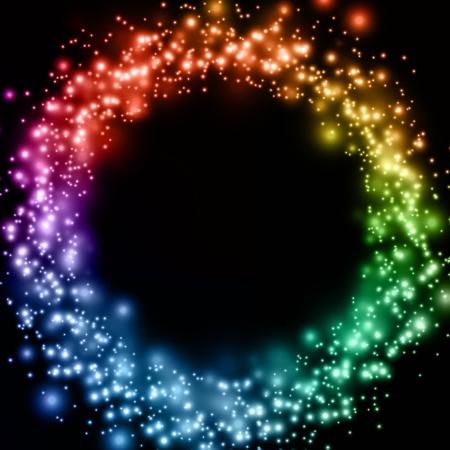 Luminous rainbow background - Abstract vector illustration Stock Vector - 14580691