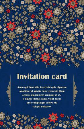 Elegance seamless vector flowers invitation card Stock Vector - 14580832