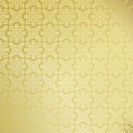 Seamless golden damask wallpaper Vector