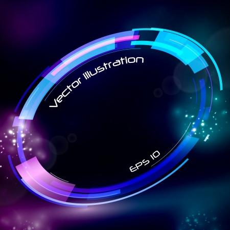 Technology futuristic circle