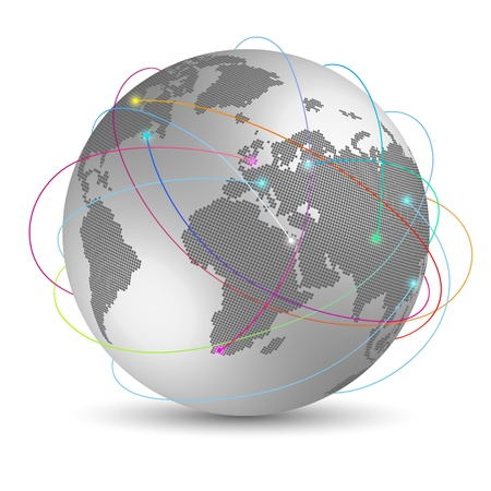 Global internet concept Vector