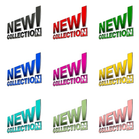 New collection  commercial labels Vector