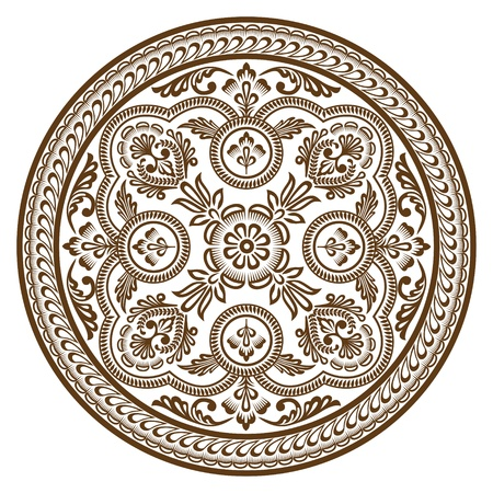 red rug: Ornament circle Illustration