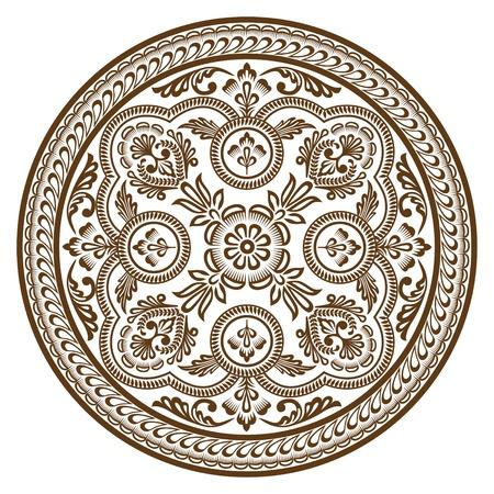 Ornament circle Vettoriali