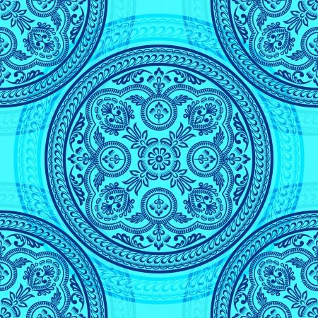 ペルシア: 飾りサークル シームレスなパターン