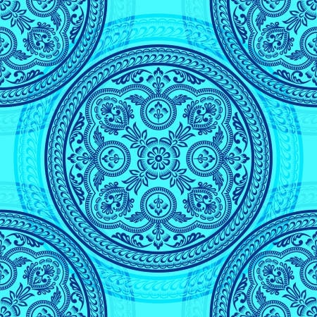 motif floral: Ornament circle seamless pattern