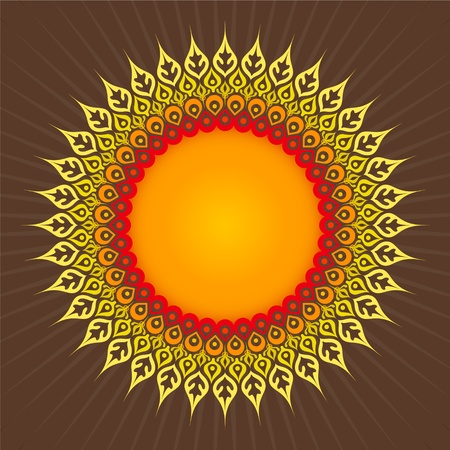 fancywork: Ornamental round sunflower