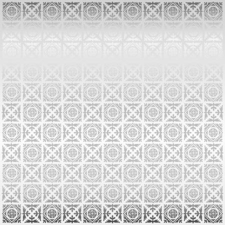 western pattern: Seamless silver damask wallpaper Illustration