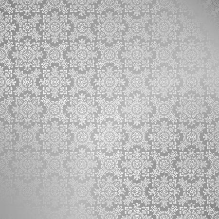 Seamless silver damask wallpaper Stock Vector - 14580996