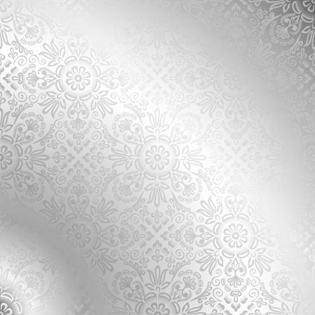prata: Papel de parede de prata sem emenda do damasco