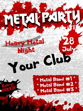 Metal Party flyer vector template Stock Vector - 14580972