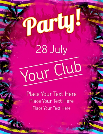 Summer Party flyer vector template  Stock Vector - 14580784