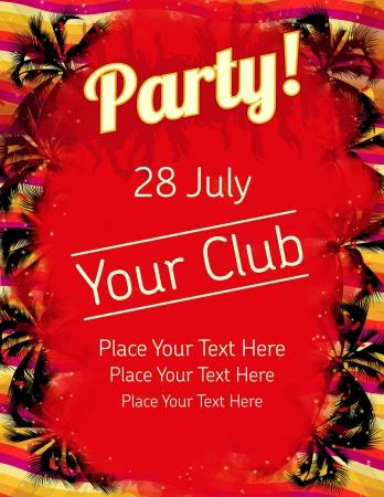 Summer Party flyer vector template  Vettoriali