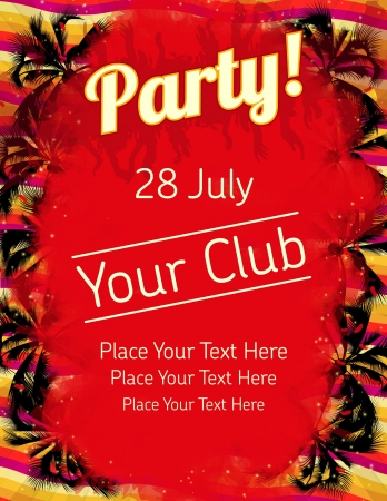 Summer Party flyer vector template  Stock Vector - 14580779