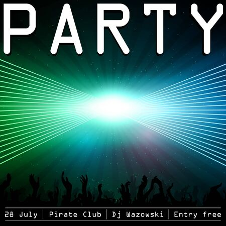 Party flyer design template Stock Vector - 14580820