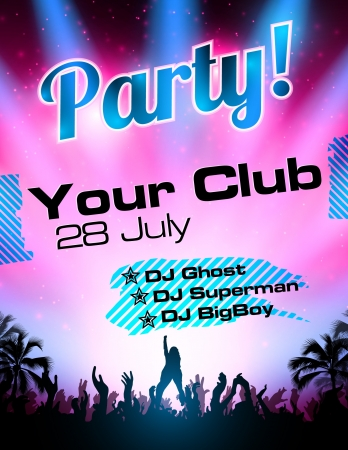Party flyer vector template Stock Vector - 14580724