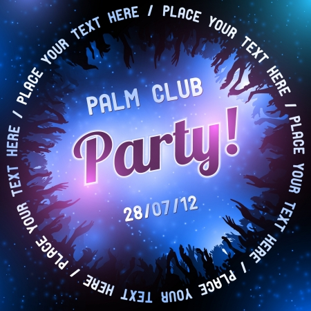 Blue Party flyer vector template Vector
