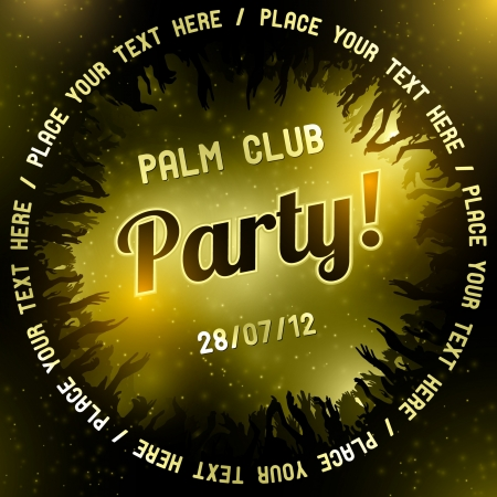 Gold Party flyer vector template