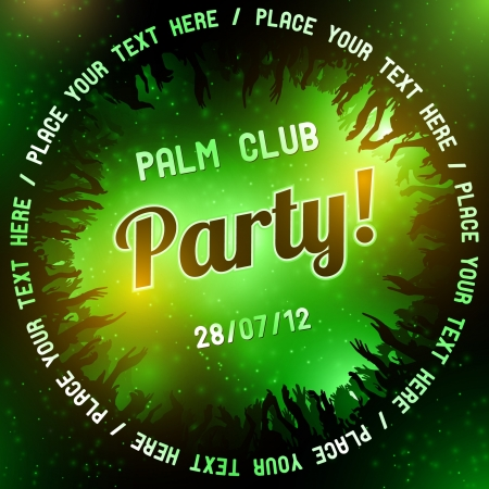 Green Party flyer vector template Stock Vector - 14580920