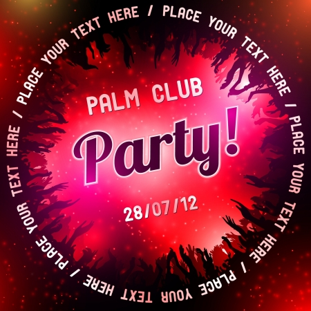 Red Party flyer vector template Stock Vector - 14580912