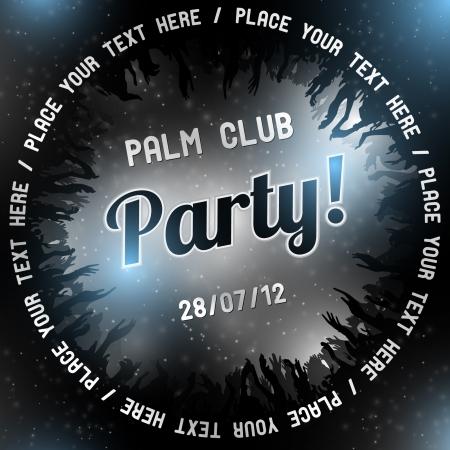 Silver Party flyer vector template