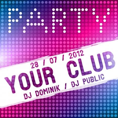 Party flyer design template Vettoriali