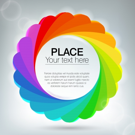 Abstract background with rainbow circles Vector