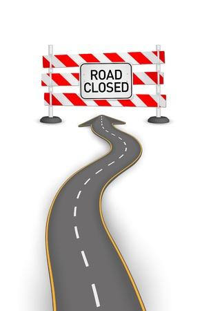 Road closed vector illustration Illustration