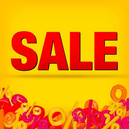 big sale: Sale decoration Illustration
