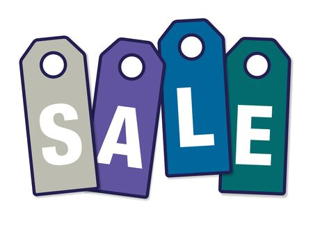 sales floor: Sale tags Illustration