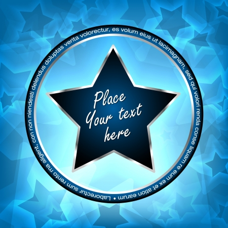 Blue vector stars with shine background Vector