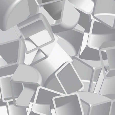 Abstract 3d illustration of cubes Stock Illustration - 14580690