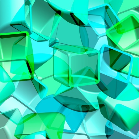 Abstract 3d illustration of cubes  Archivio Fotografico