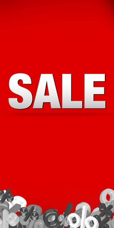 discount banner: Sale decoration Illustration