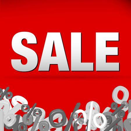 sales floor: Sale decoration Illustration