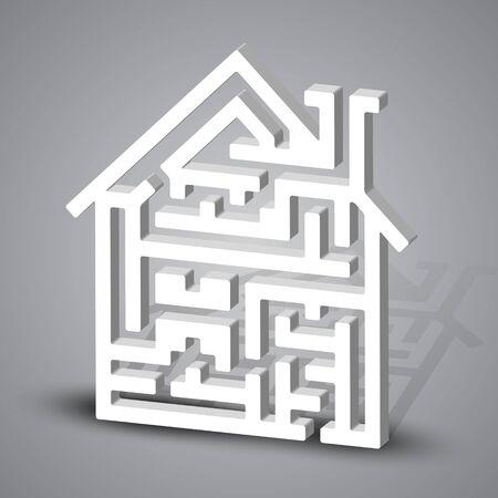 Labyrinth house Vector