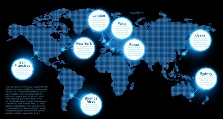 world maps: Digital Earth map concept