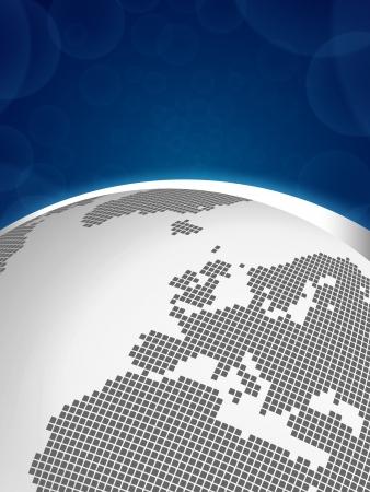 virtual world: Digital Earth concept - Europe Illustration
