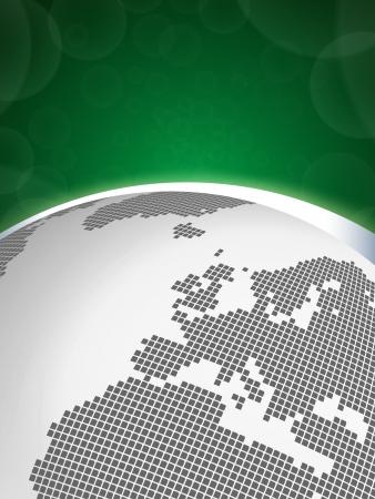 Digital Earth concept - Europe Vector