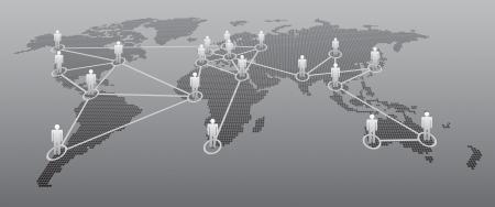 social gathering: Social Network illustration