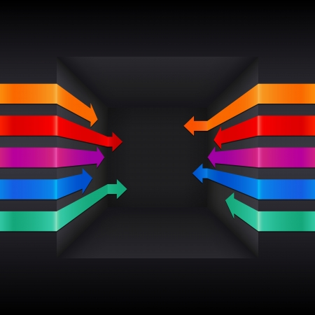 increase business: Colorful 3d vector arrows