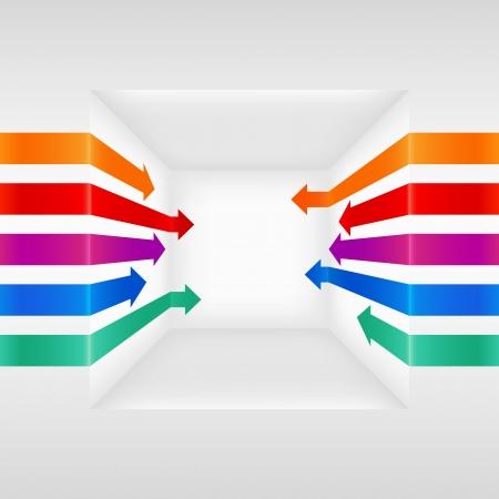 Colorful 3d vector arrows