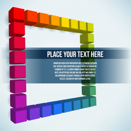 Abstract rainbow cubes Vector
