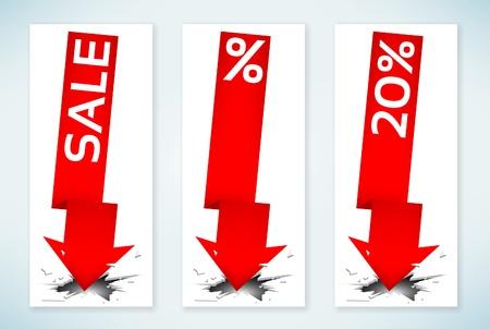 Sale arrows Stock Vector - 15152966