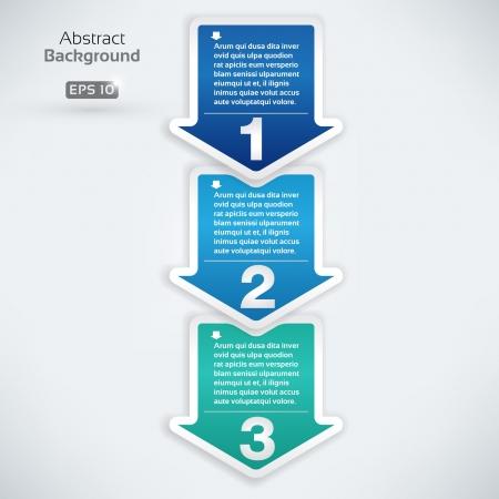 マニュアル: 次のステップの矢印ボックス  イラスト・ベクター素材