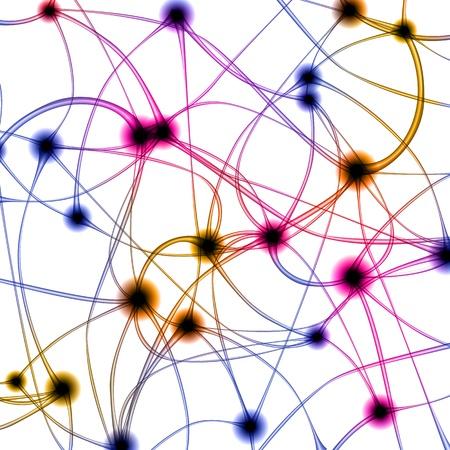 Ilustración digital de neurona