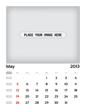 Vector calendar 2013 - may Stock Vector - 15470139